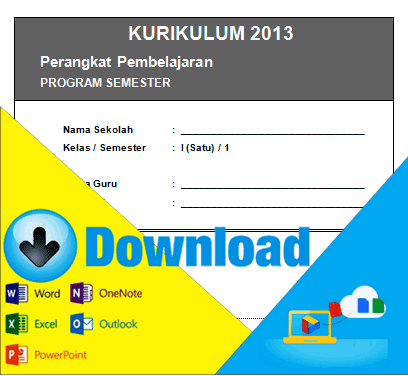 Download Program Semester Kurikulum 2013 Kelas 1 SD Semester 1 & 2