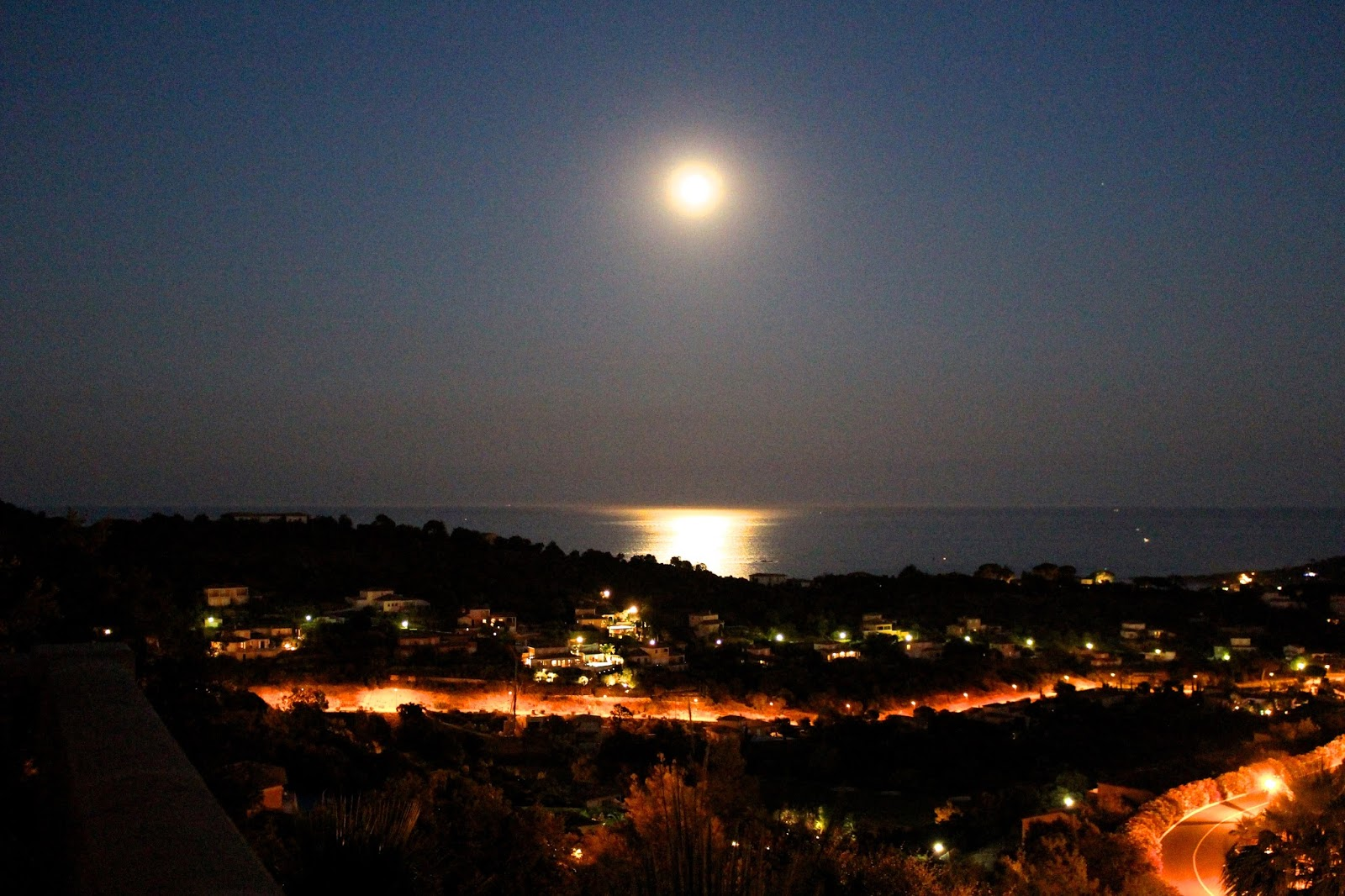 South of France Sainte-Maxime nighttime photography