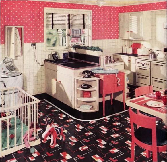 Pink Retro Kitchen: Vintage Clothing Love: Vintage Kitchen Inspirations