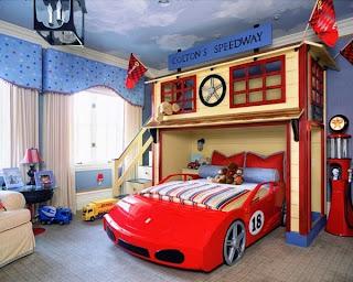 cama niño forma coche