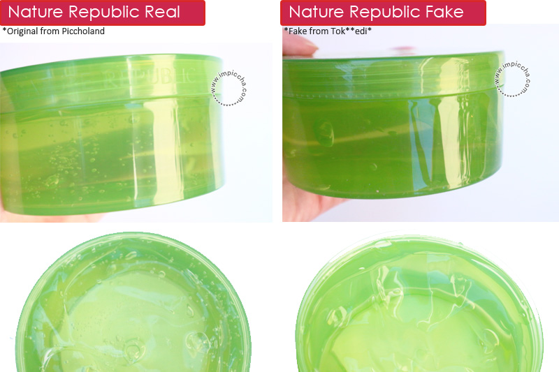 Perbedaan Nature Aloe Vera Gel Real VS Fake