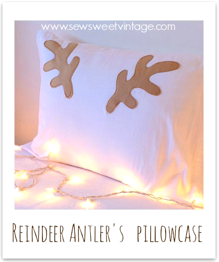 how to make fleece deer, moose or, reindeer antler hats and pillowcases