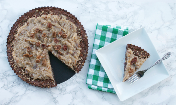 German Chocolate Brownies - I bet you can't have just one slice!