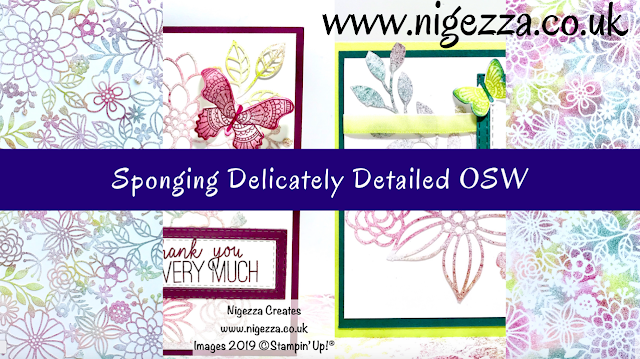 Stampin' Up! Delicately Detailed Laser Cut DSP Nigezza Creates