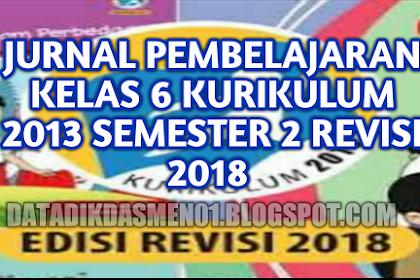 Download Jurnal Kelas 6 SD Semester 2 Kurikulum 2013 Revisi 2018