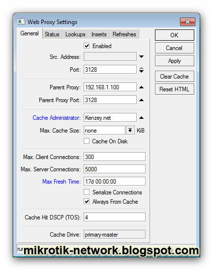 Http proxy settings