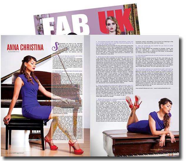 Anna-Christina feature interview page in Fab UK Magazine image