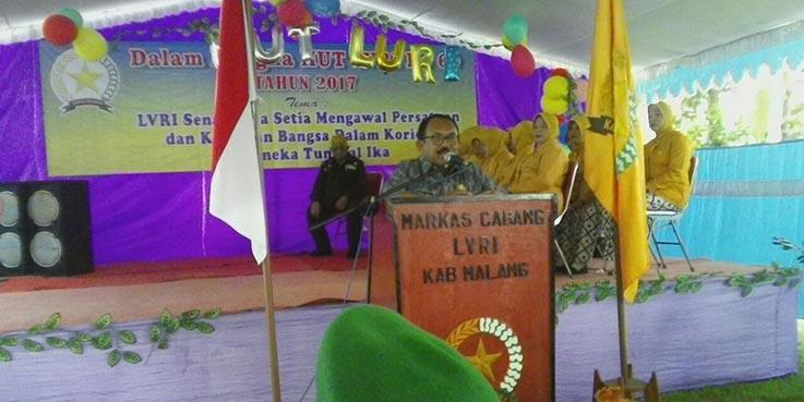 Sekretaris Daerah Kabupaten Malang Abdul Malik saat memberikan sambutan.