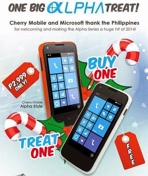 Cherry Mobile Alpha Style Buy 1 Take 1 Promo