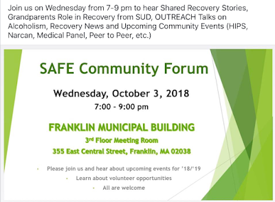 SAFE Community Forum - Weds,Oct 3  7:00 PM