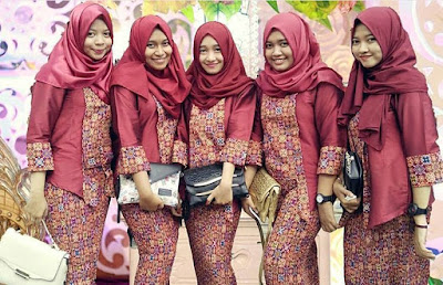 Model Kebaya Hijab Muslim Prada Maroon