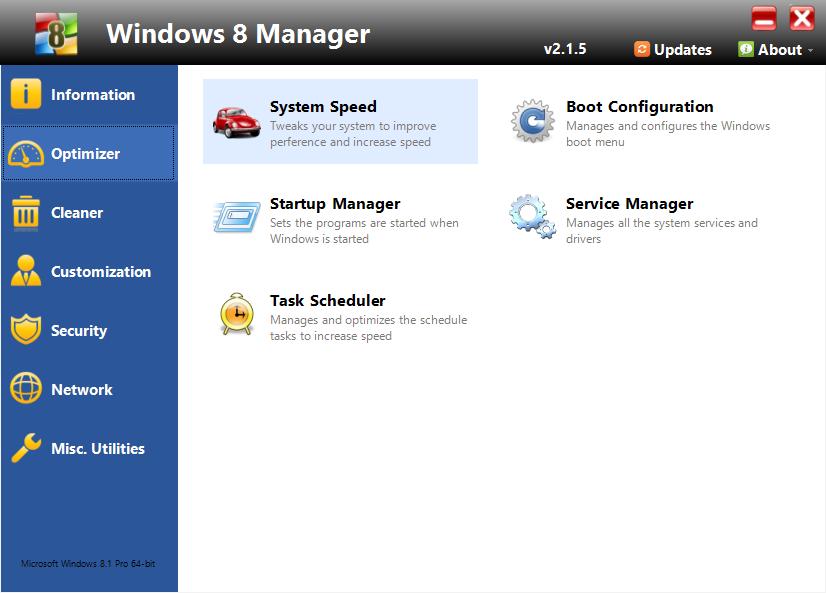Windows 8 Manager 2.2.8 [Full] One2up โปรแกรมปรับแต่ง Windows 8/8.1 ล่าสุด Sep2015