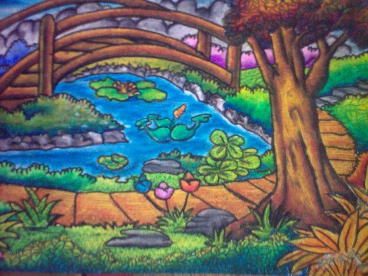 Image Gallery Of Contoh Gambar Pemandangan Dengan Crayon