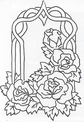 Desenhos Para Colorir De Flores E Rosas