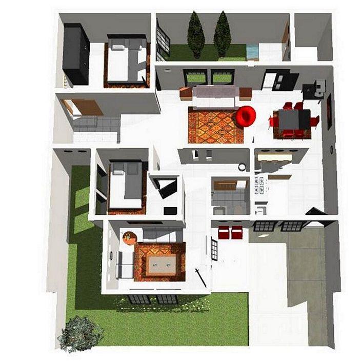 denah rumah sederhana minimalis menarik