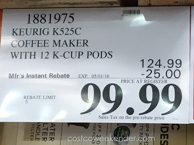 Deal for the Keurig K525C Single Serve Coffee Maker at Costco