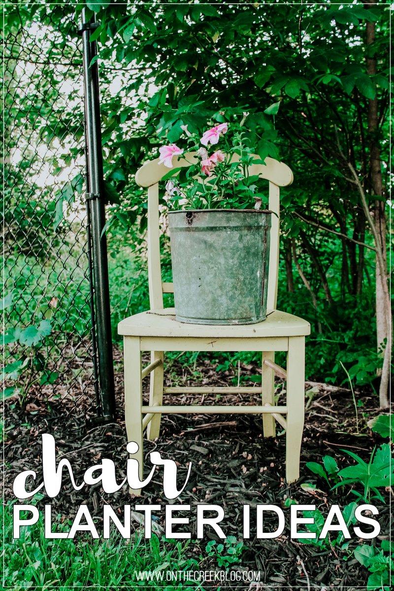 Flower chair planter ideas!