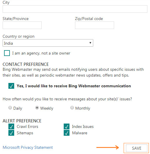 ब्लॉग Sitemap को Bing Webmaster tools में सबमिट कैसे करे