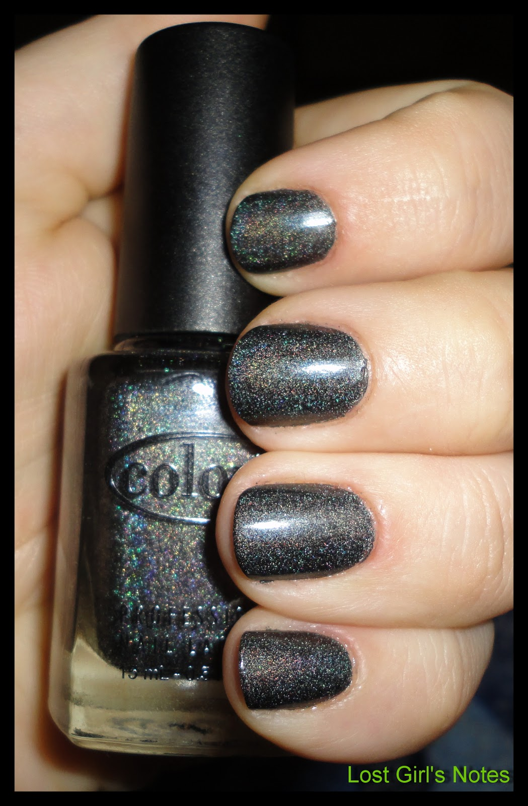 Color Club Revvvolution Review And Swatches Black Holographic Nail Polish Comparison Lost