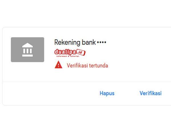 Cara Verifikasi Rekening Bank Pembayaran AdSense