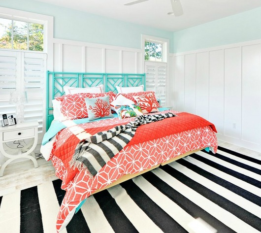 Turquoise Headboard for Bedroom