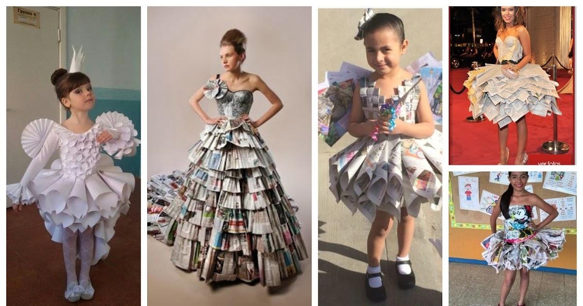 Haz Un Hermoso Vestido Para Niñas Reciclando Papel Periódico