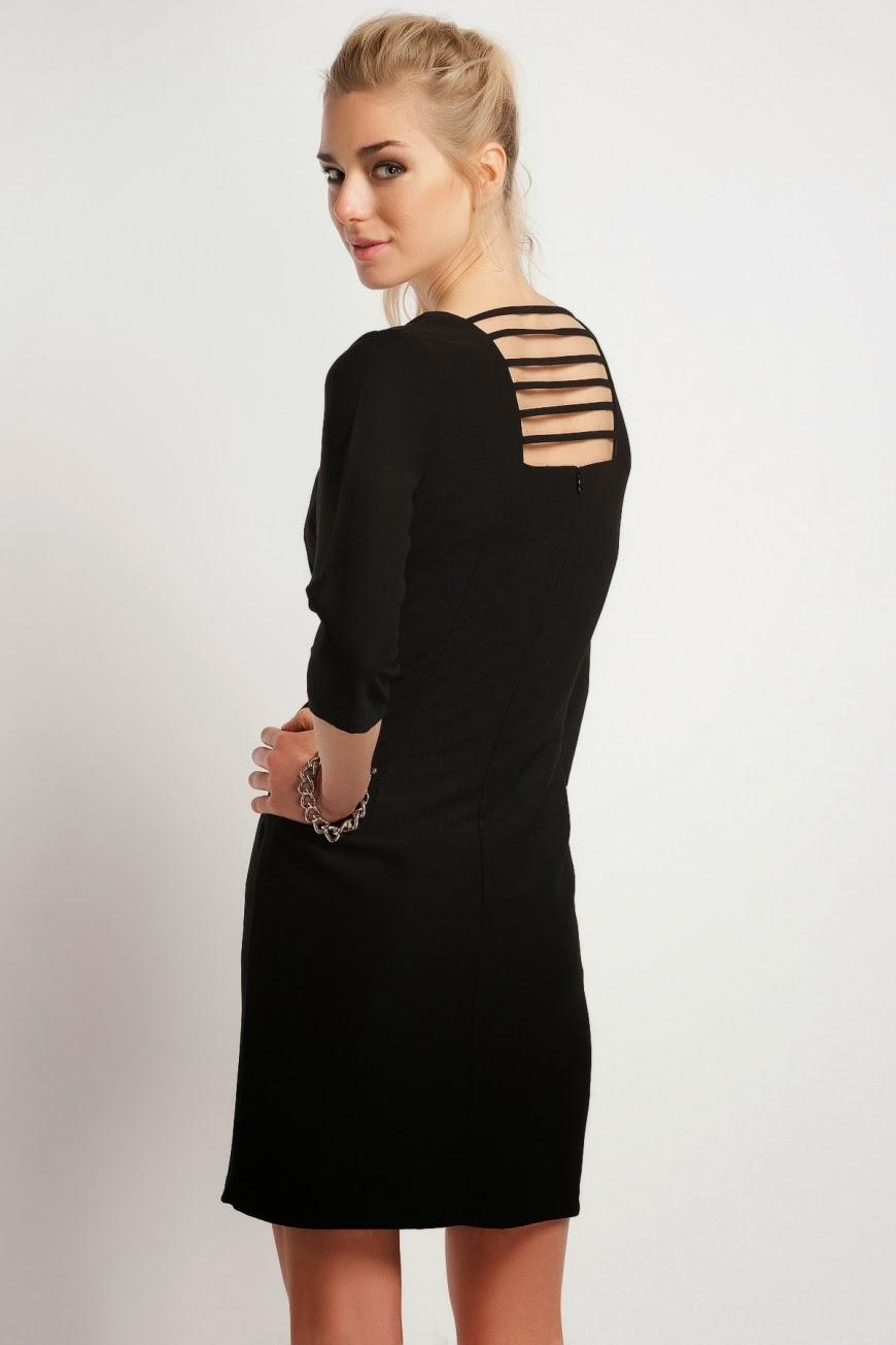 2060559711c11 sırt dekolteli siyah kısa elbise koton 2014 elbise modelleri · kırmızı  siyah blok renk elbise klasik kesim ...