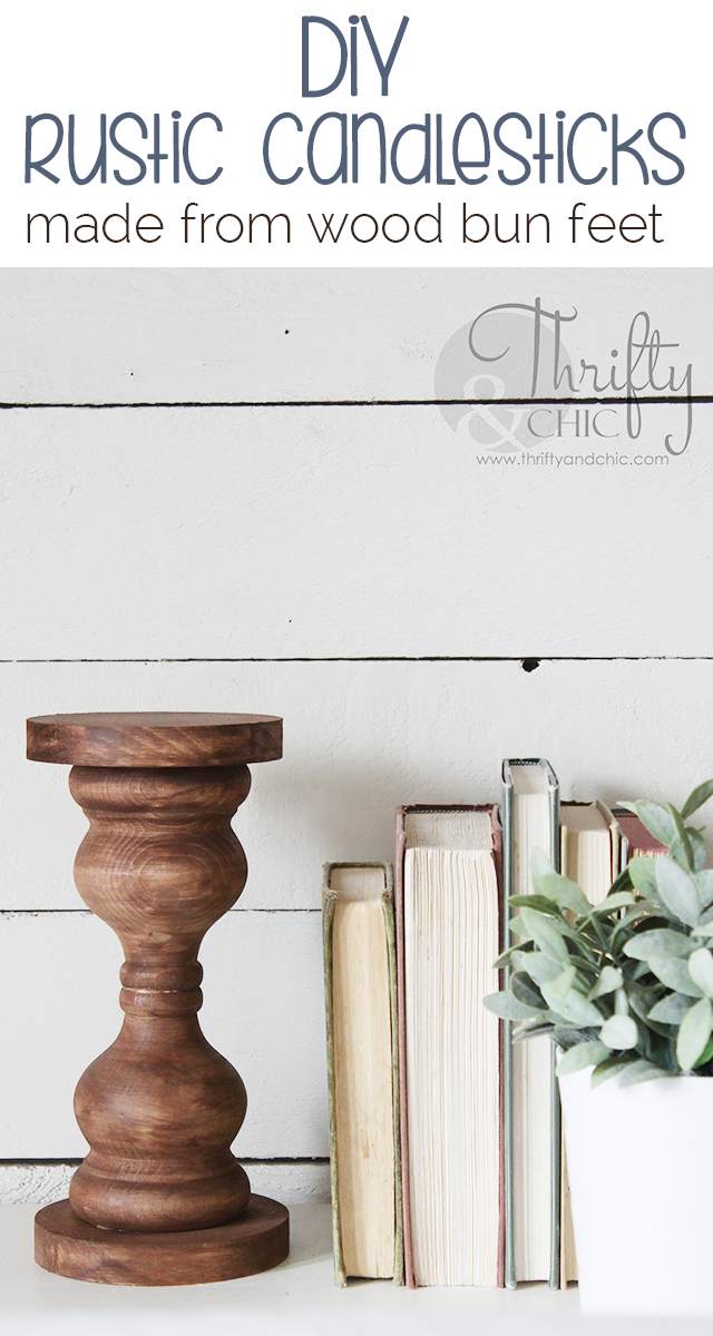 DIY rustic wood candlesticks. DIY farmhouse candle holders. DIY farmhouse decor. Rustic decor. Diy wood candle sticks from chair spindles or feet