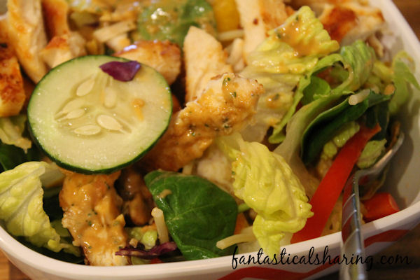Asian Chicken Noodle Salad // I could eat the Thai peanut salad dressing with a spoon, but alas I had to save it for this wonderful salad! #recipe #chicken #thai #salad