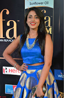 Madhu Shalini Looks Super Cute Slim trim Blue Choli Ghagra IIFA Utsavam Awards 26.JPG