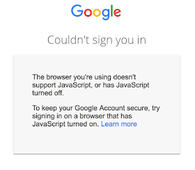 Google announces account security updates, including requiring JavaScript be enabled when using a Google sign-in page in order to run a risk assessment
