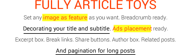 MagOne - Ultimate Blogger Magazine Template Fully Article Toys - 01