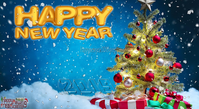 happy new year 2019 ice falling desktop background scenery download free