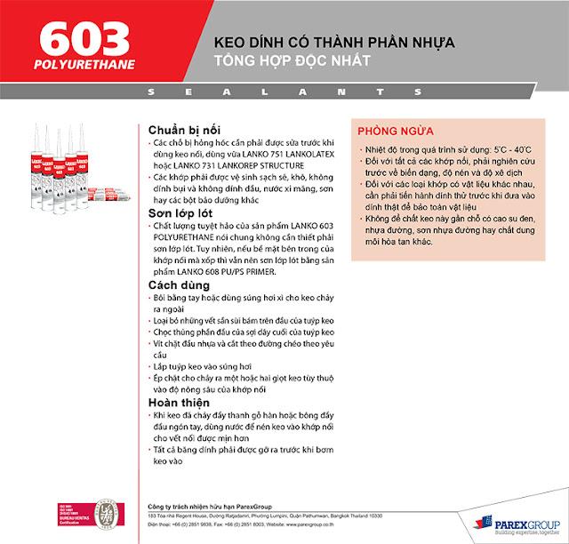 Chuyen cung cap keo dan kinh Lanko 603