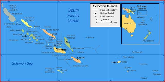 Gambar Peta Kepulauan Solomon