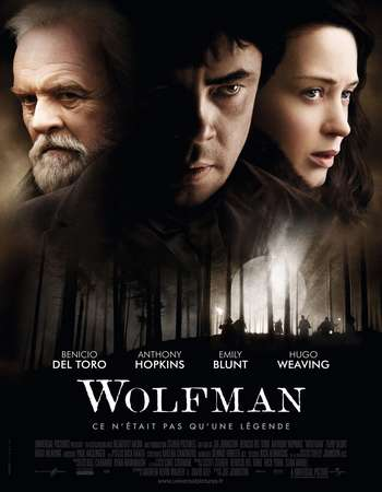 Poster Of The Wolfman 2010 Dual Audio 300MB BRRip 480p Free Download Watch Online downloadhub.net