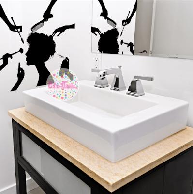 vinilo decorativo baño peluqueria belleza cuidado spa