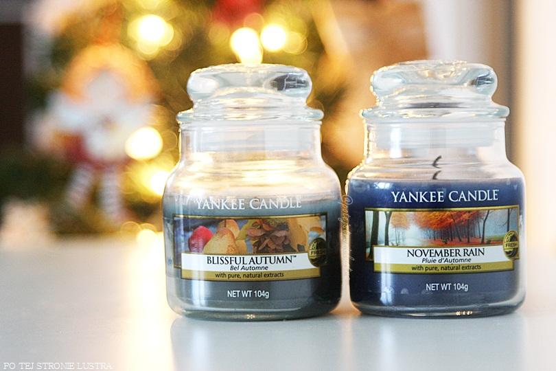 niebieskie świece yankee candle