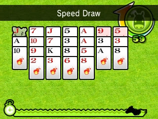 Pocket Card Jockey playing solitaire Speed Draw