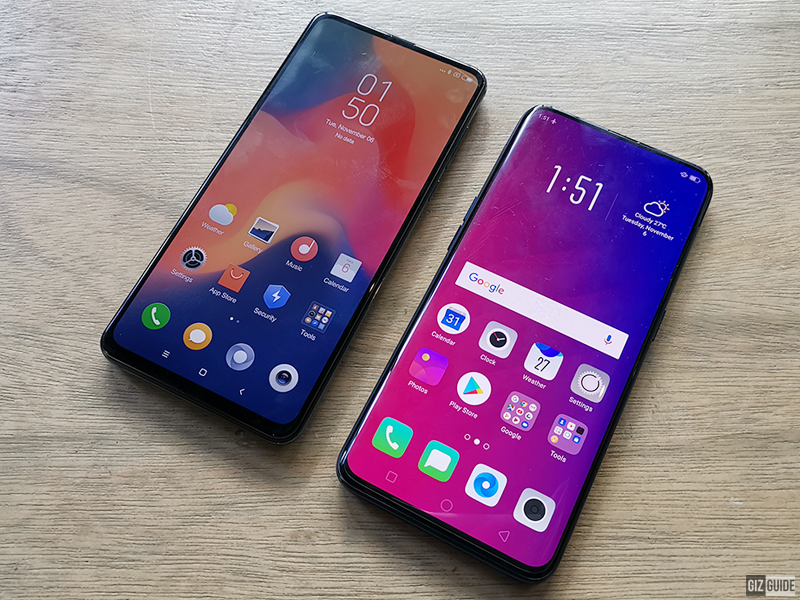 Both the Mi Mix 3 and Find X feature hidden front cameras