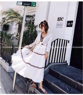 Váy maxi V350 tai Hoan Kiem