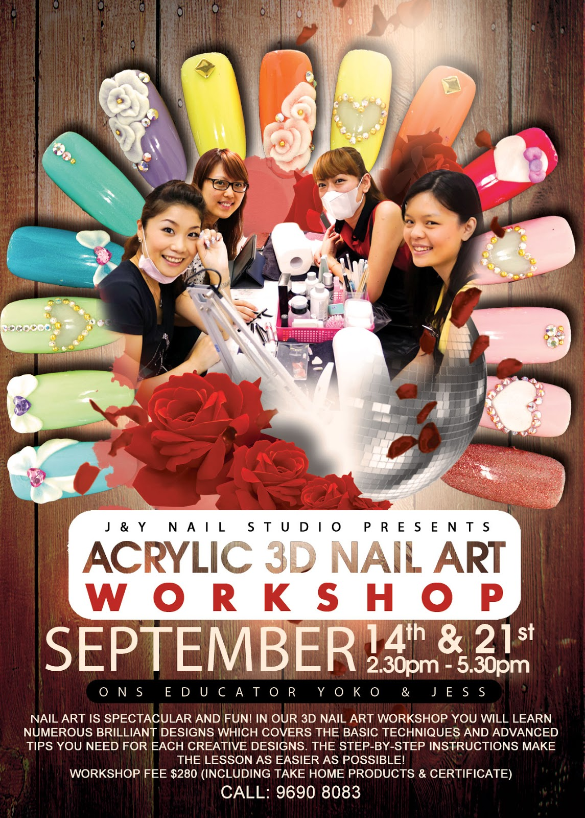 J Nail Studio 3d Acrylic And Gel Workshop