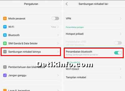 Via Penambatan Bluetooth OPPO