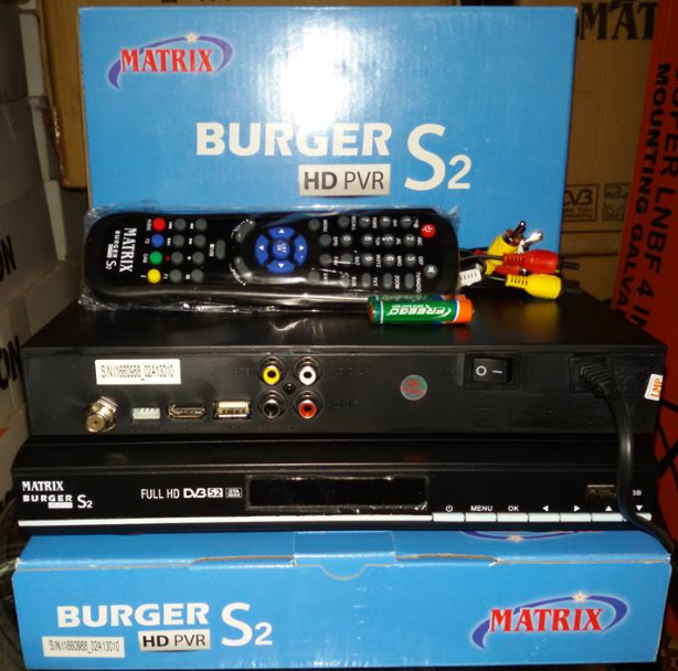 Spesifikasi dan Panduan Digital Receiver Matrix Burger S2