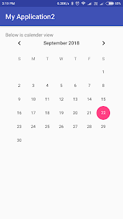 android, calendarview