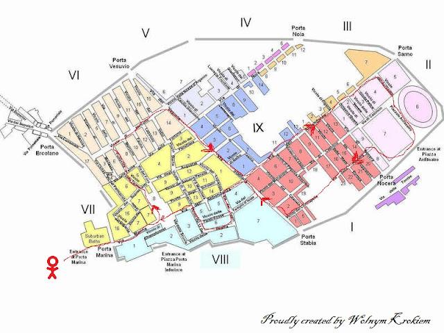 Mapa Pompei