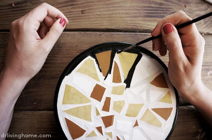 Diy mosaico con azulejos reciclados