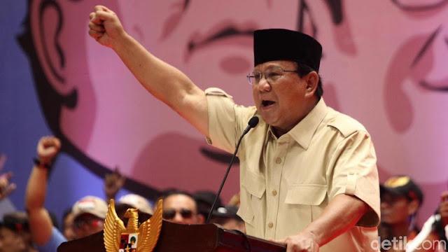 Lihat Korupsi Sudah Stadium 4, Prabowo Janji Ciptakan Clean Government