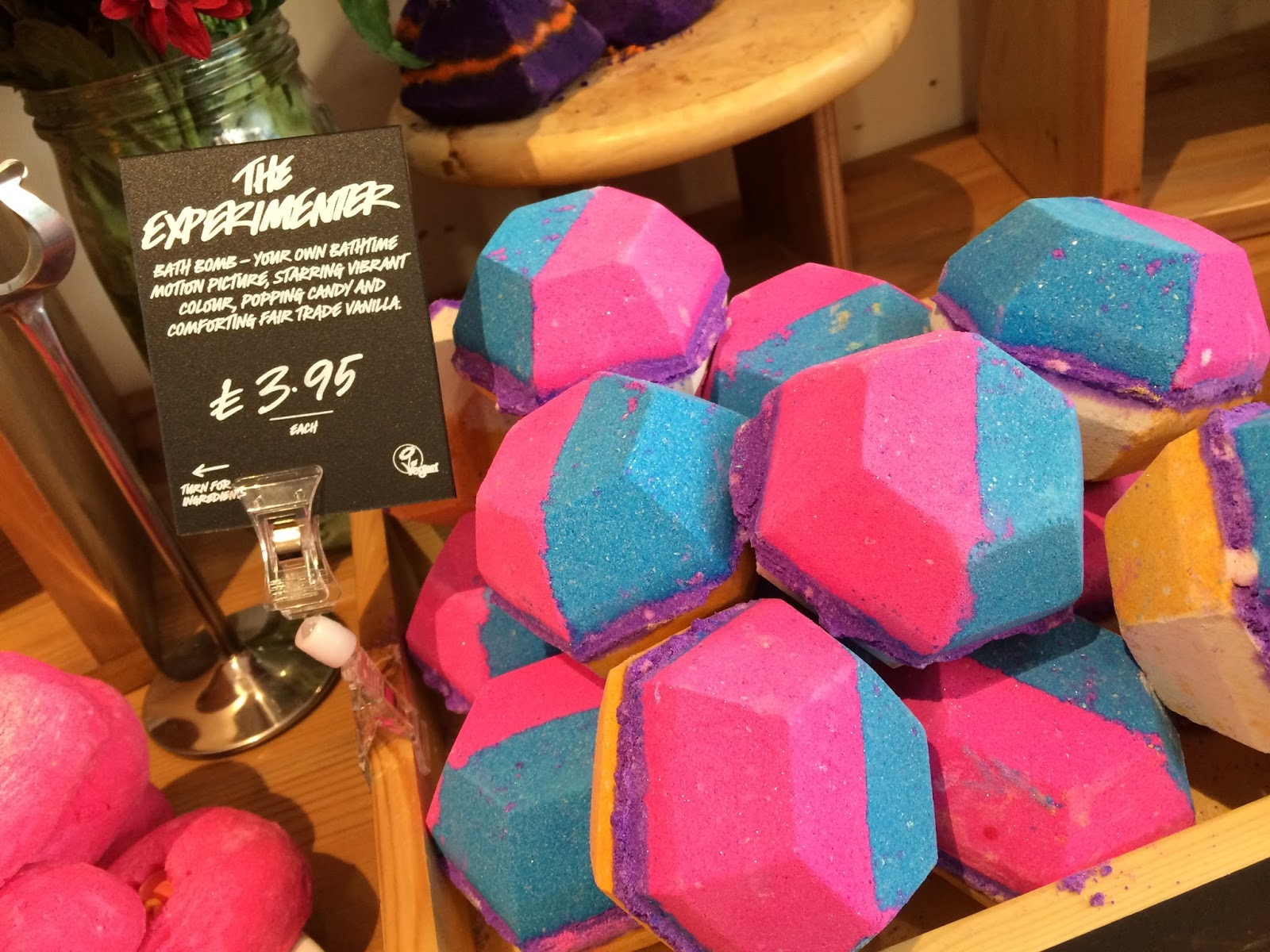 Lush Leicester bath natural organic fair trade experimenter