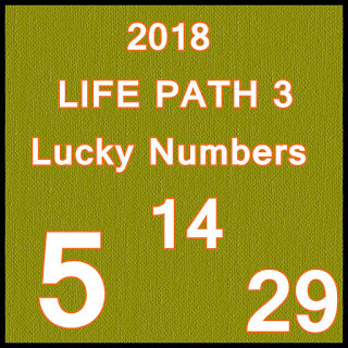 2018 LIFE PATH 3 Lucky Numbers and Days in LOVE an MONEY